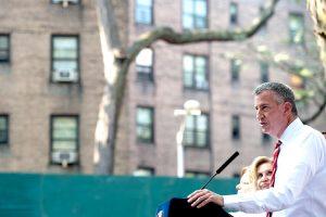 """""""Nuestra meta ahora es hacer una inspección muy intensa"""", dijo el alcalde Bill de Blasio."""