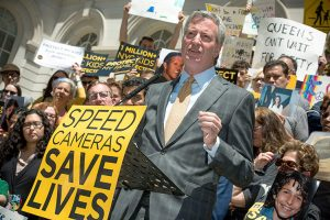 """Our children's lives depend on [these measures],"""" said Mayor Bill de Blasio."""