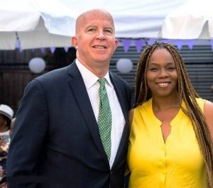 Yasmin Cornelius, here with NYPD Commissioner James O'Neill, has joined the board.