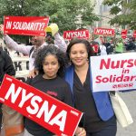 Nurse Karines Reyes and State Senator Marisol Alcántara expressed support.