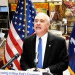 """""""There are a lot of positive things happening here,"""" said State Comptroller Thomas P. DiNapoli."""