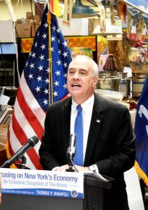 """There are a lot of positive things happening here,"" said State Comptroller Thomas P. DiNapoli."