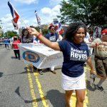 La candidata a la asamblea estatal Karines Reyes.