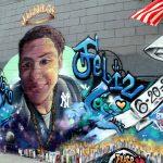 Un mural a lo largo de la avenida Bathgate.