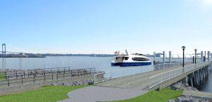Una representación del ferry trabajando. Foto: NYCEDC