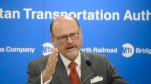 El presidente de la MTA, Joseph Lhota.