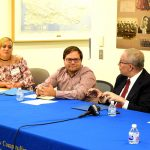 The discussion was held at the Silberman School of Social Work.