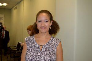"""""""Puedo ver de primera mano la diferencia que hacemos"""", dijo Michelle Joaquín."""