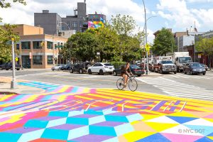 The DOT Art program beautifies public spaces. Photo: NYC DOT