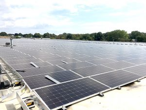 The new installation features 3,000 solar panels.