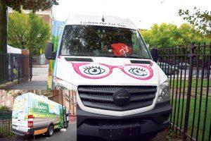 The vision van.