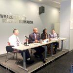 La discusión fue organizada por el Centro de Medios Comunitarios y Étnicos (CCEM).