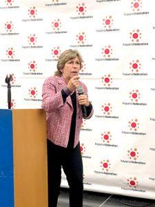 Randi Weingarten, presidenta de la Federación Estadounidense de Maestros.
