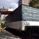 Las calderas temporales están alojadas en camiones.