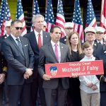 The ceremony was held on the two-year anniversary of Fahy's death. Photo: Office of the Mayor