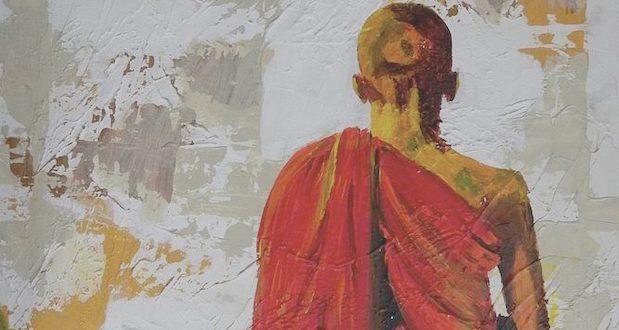 A meditating monk